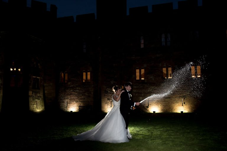 Chelsey & Andy At Peckforton Castle 5