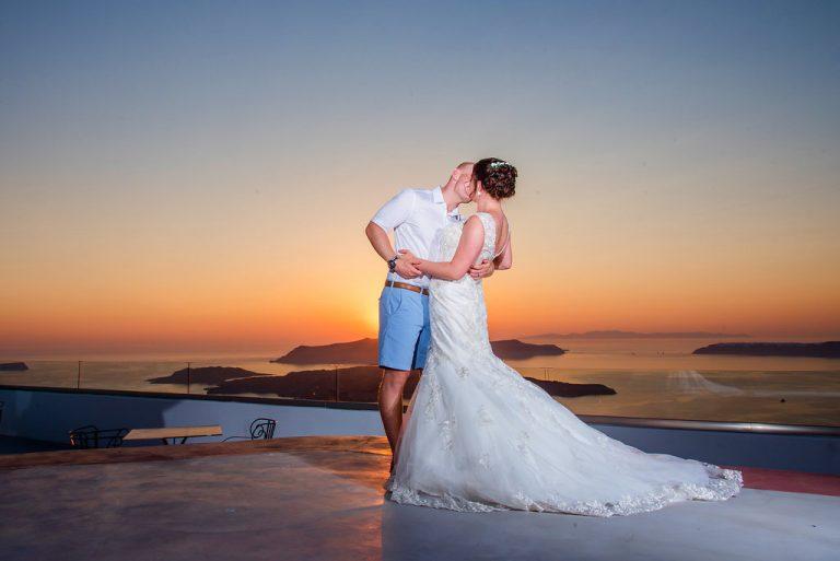 Claire & Jonathan In Santorini 7