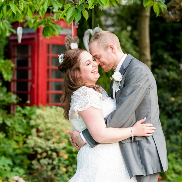 Bride and Groom at Dimple Well Lodge