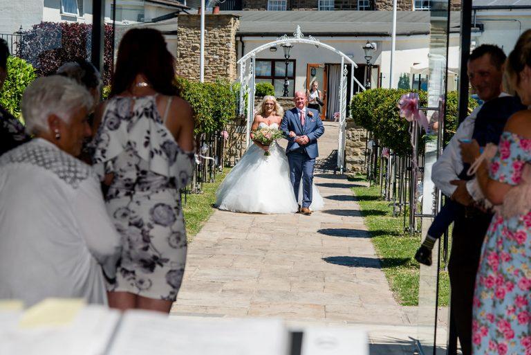 Bridal entrance at Kings Croft Pontefract