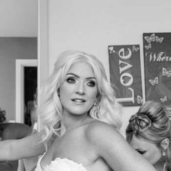 Bride getting ready at Kings Croft Pontefract