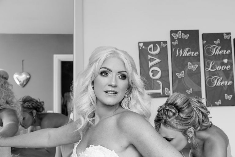 Bride getting ready at Kings Croft Pontefract