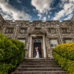 Hazlewood Castle bride and groom
