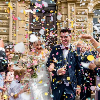 Confetti photograph at Victoria Hall