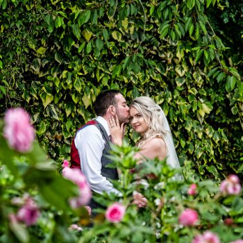 Bride and Groom at East Riddlesden Hall