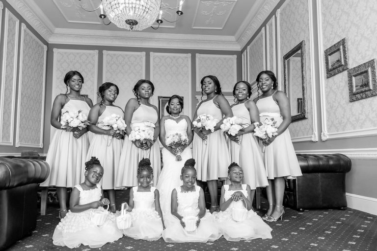 African bridal party