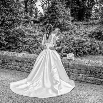 Wedding dress at Peckforton Castle