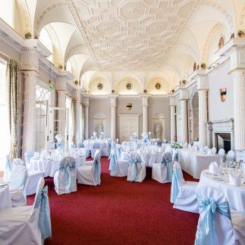 Wedding Breakfast room at Hazlewood Castle
