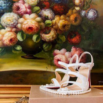 Wedding Shoes at Hazlewood Castle