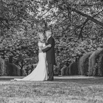 Bride and Groom at Hazlewood Castle