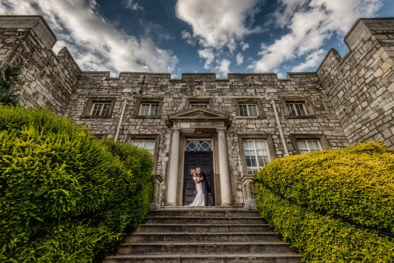 Bride and Groom at Hazlewood Castle