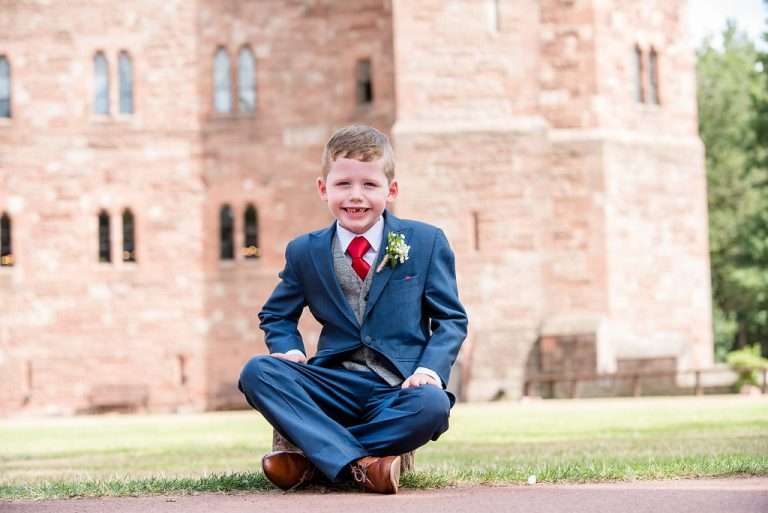 Peckforton Castle page boy