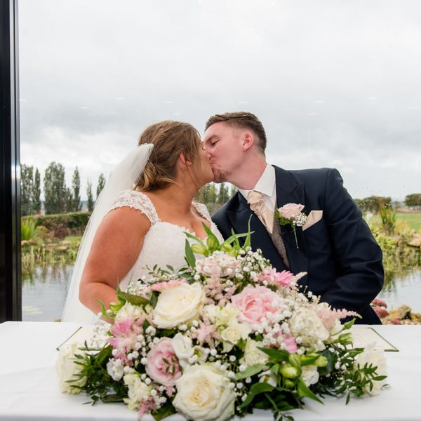 Bride and Groom at Kings Croft