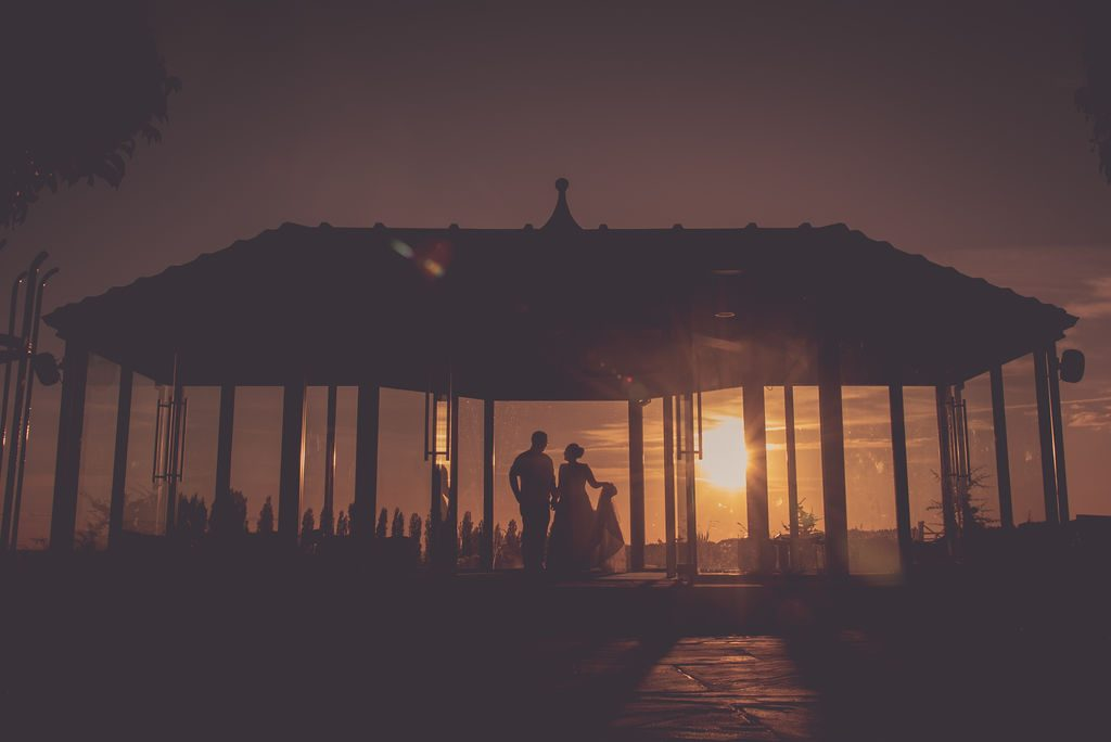 Sunset wedding photograph at Kings Croft