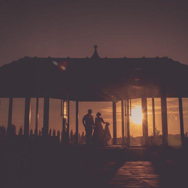 Sunset wedding photograph at Kings Croft
