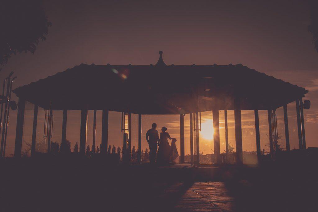 Sunset wedding at Kings Croft