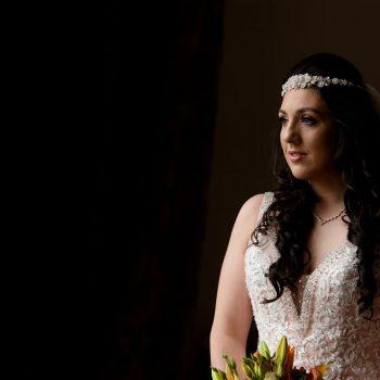 Bride ready at Waterton Park