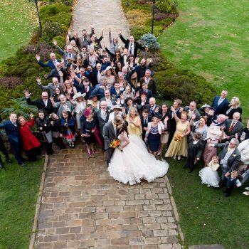 Wedding party at Waterton Park