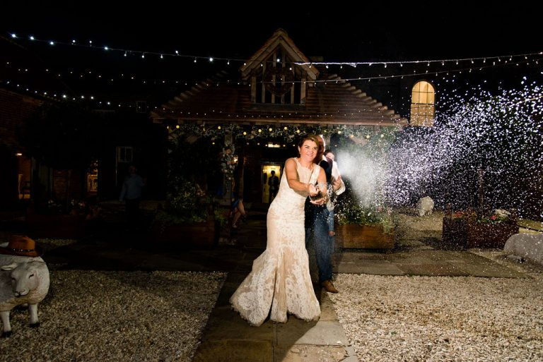 Bride and Groom at Hornington Manor