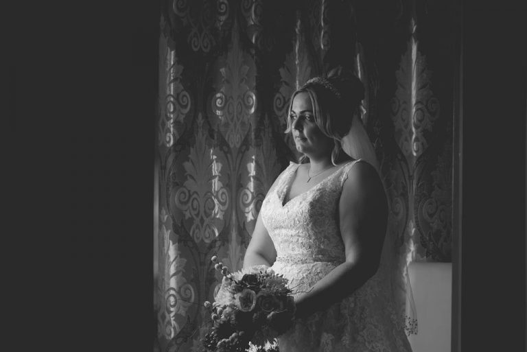 Bride at Dimple Well Lodge