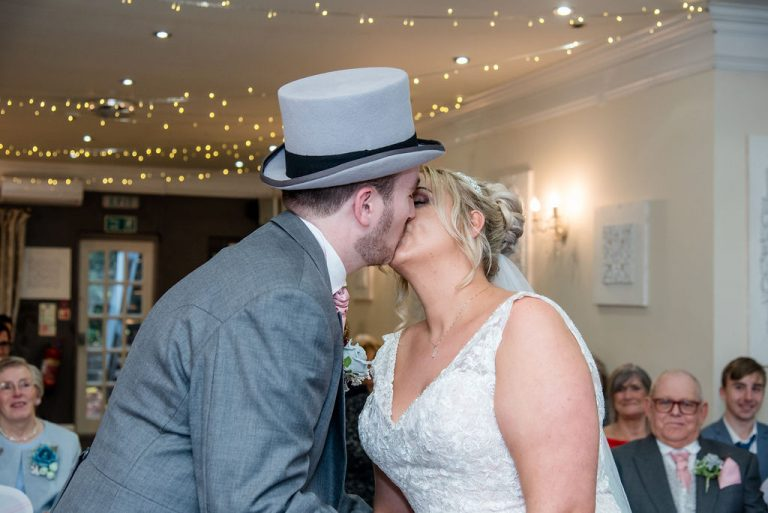 First Kiss at Dimple Well Lodge
