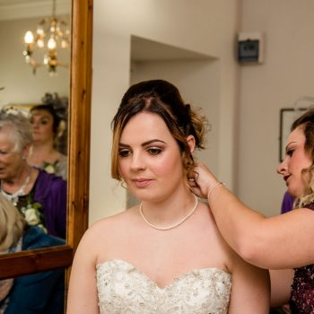 Bride getting ready at Waterton Park