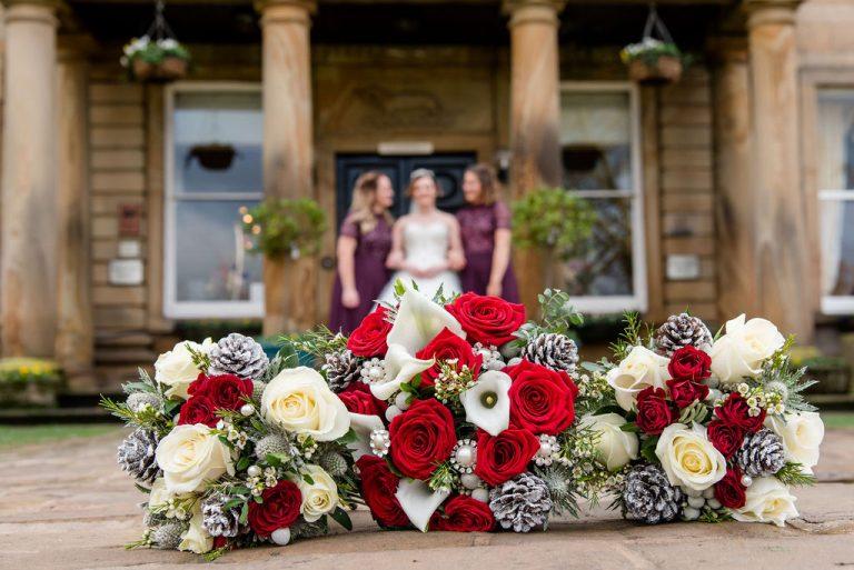 Bride and Bridesmaids at Waterton Park