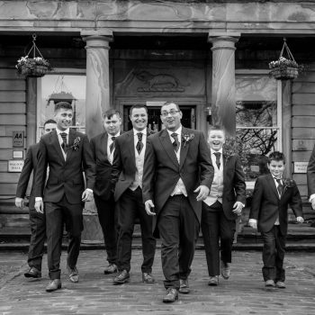 Groomsmen at Waterton Park
