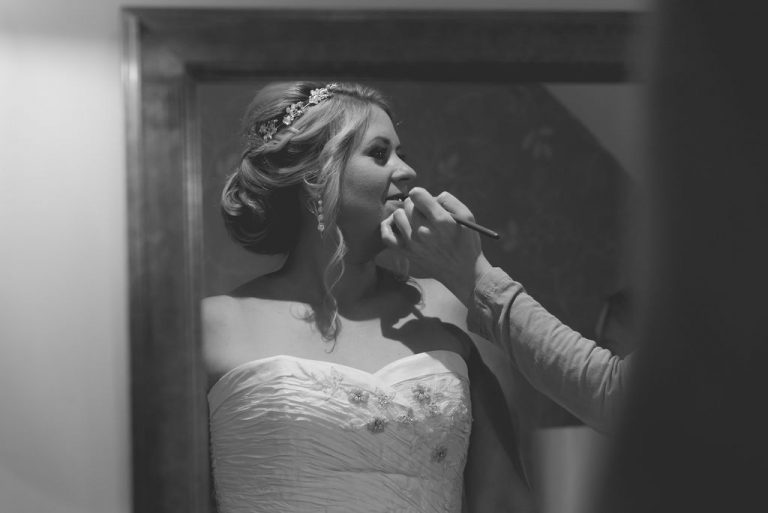 Bride getting ready at The Bridge