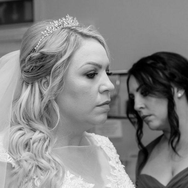 Bride at Bagden Hall near Wakefield
