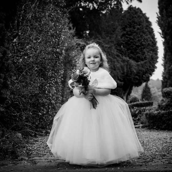 Flower Girl at Bagden Hall near Wakefield