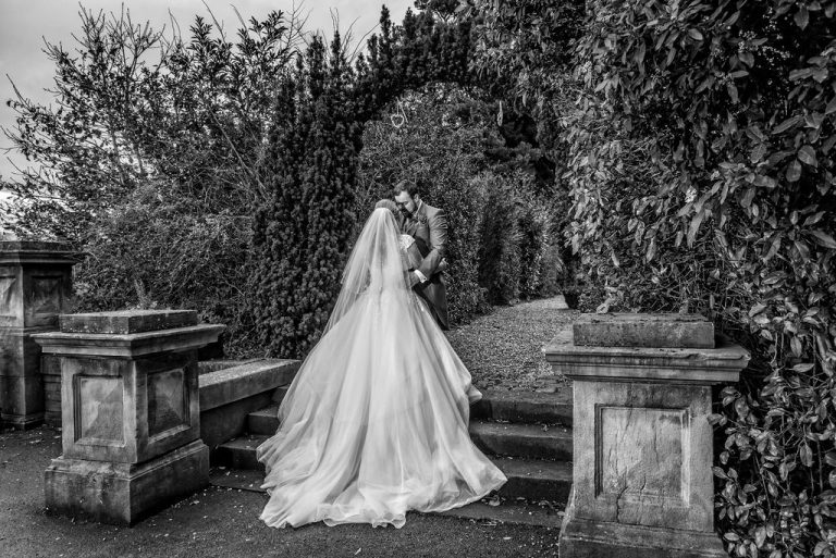 Bride and Groom at Bagden Hall near Wakefield