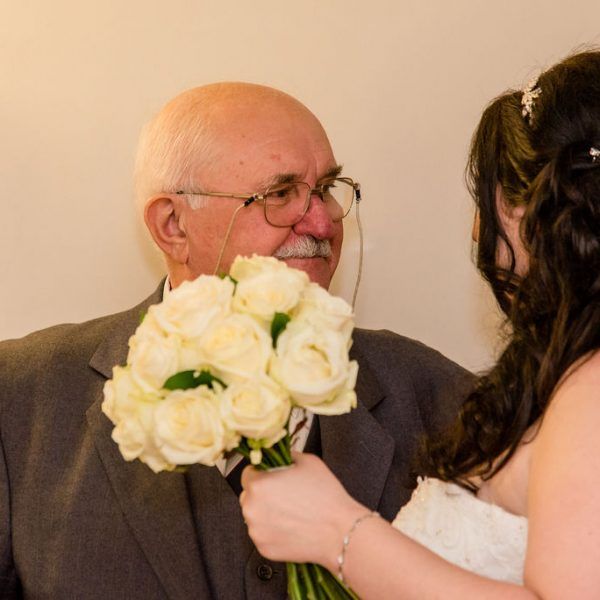 Father of the bride and bride