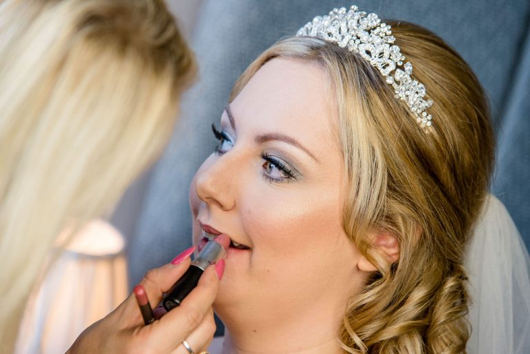 Bride getting ready at Waterton Park Hotel