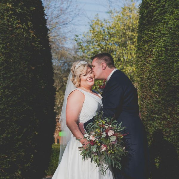 Bride and Groom at Oakwell Hall
