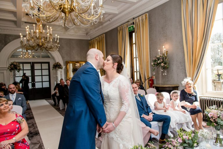 First Kiss at Oulton Hall near Wakefield
