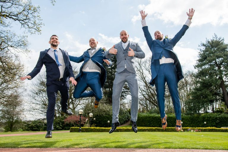 Groomsmen at Oulton Hall near Wakefield