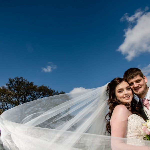 Bride and Groom at Waterton Park Hotel