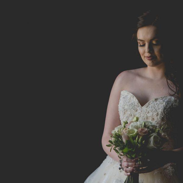 Stunning bride at Waterton Park Hotel