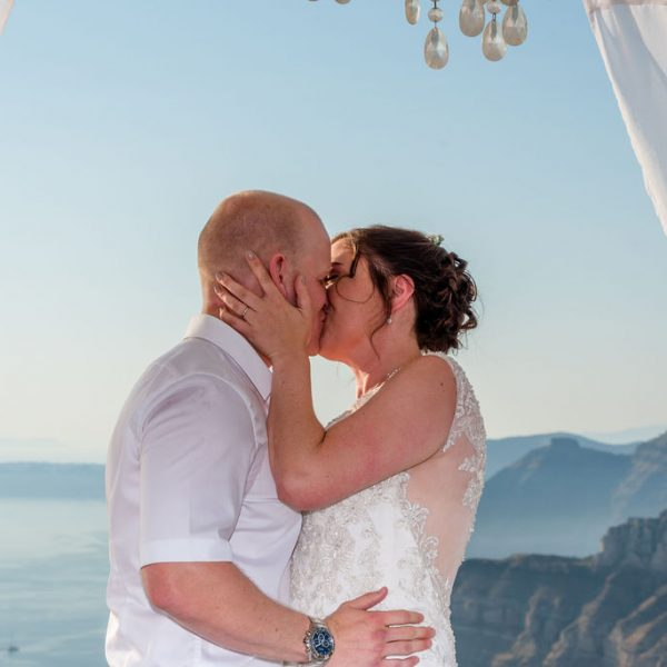 First Kiss at Santorini gem
