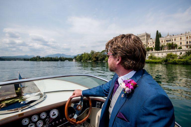 Groom at Isola Del Garda wedding