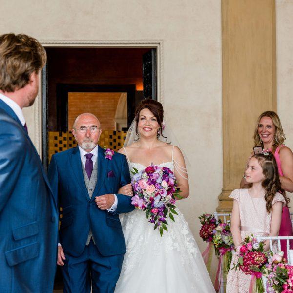 Bridal Entrance at Isola Del Garda wedding