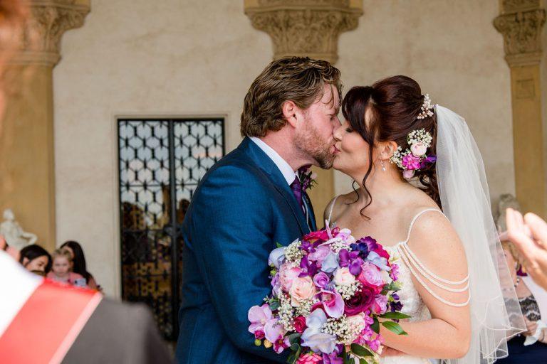 First Kiss at Isola Del Garda wedding