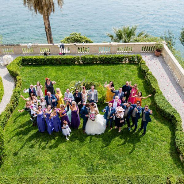 Full wedding Party on Isola Del Garda
