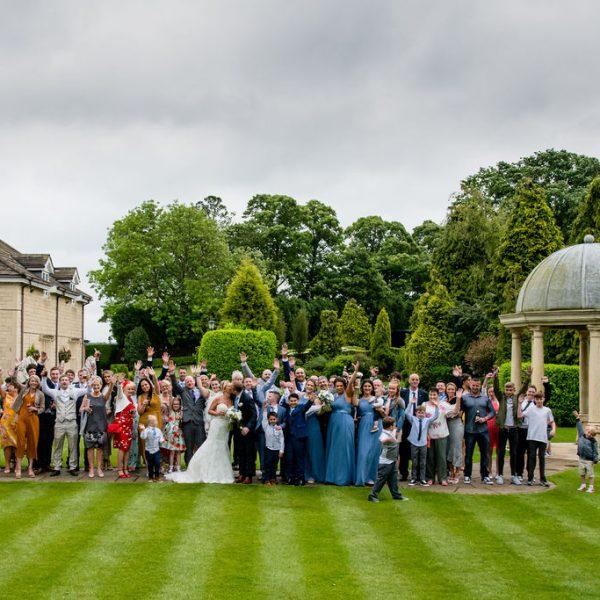Full wedding party at Rogerthorpe Manor