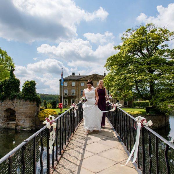 Bride and Bridesmaid at Waterton Park Wakefield