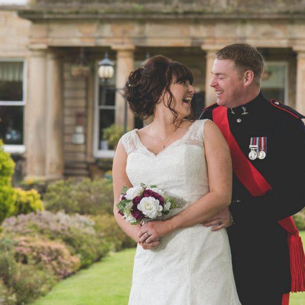 Bride and Groom at Waterton Park Wakefield