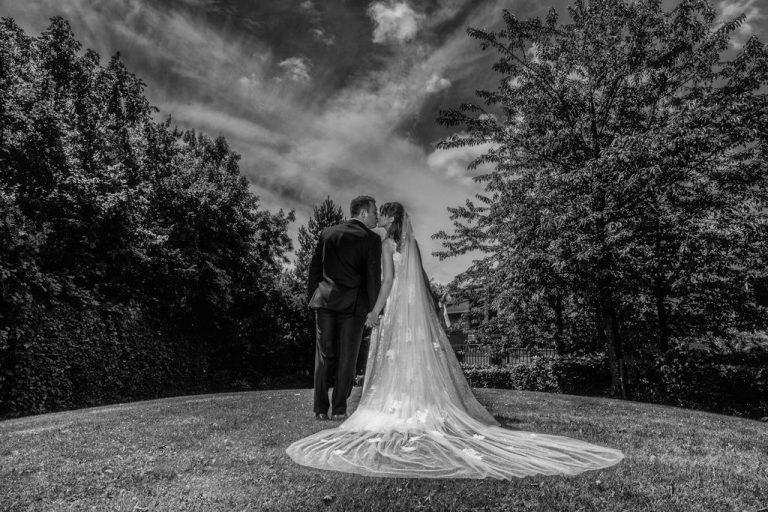 Bride and Groom at Thorpe Park Hotel