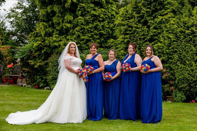 Bridal party at Rogerthorpe Manor