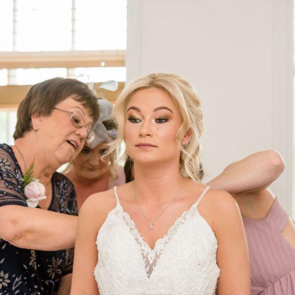Bride at Healds Hall Wedding Venue